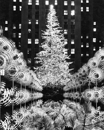 Rockefeller Center Christmas Tree 1950's Photo Print