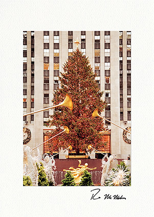 Rockefeller Center Christmas Tree NYC Personalized Christmas Cards
