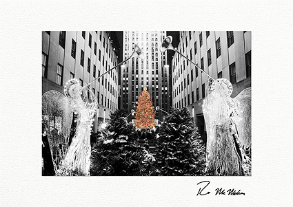 Rockefeller Center Christmas Tree Personalized Christmas Cards
