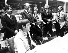 Ronald Reagan at Mission Control Photo Print for Sale