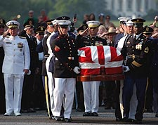 Ronald Reagan Funeral Joint Chiefs of Staff Photo Print for Sale