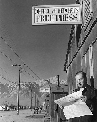 Roy Takeno WWII Manzanar Ansel Adams Photo Print