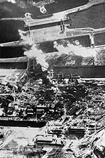 Bombing of Netherlands Aerial View WWII Photo Print for Sale