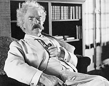 Samuel Clemens aqua Mark Twain Portrait Photo Print for Sale