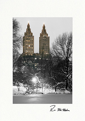 San Remo Apartments, Central Park, New York City Holiday Individual Greeting Cards