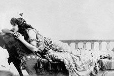 Sarah Bernhardt Lounging Sarony Portrait Photo Print for Sale