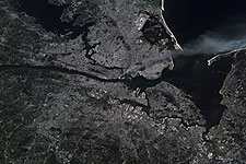Satellite View of New York City on 9/11 Photo Print for Sale