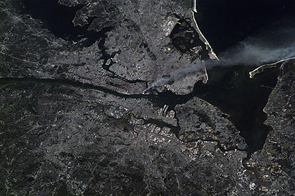 Satellite View of New York City on 9/11 Photo Print