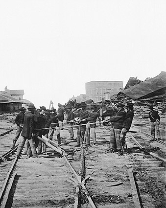 Sherman's Men Tearing Railroad, Atlanta Photo Print