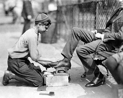 Shoe Shine Boy New York City 1924 Photo Print