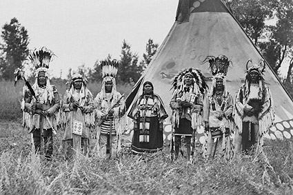 Siksika (Blackfeet) Indians & Tipi 1913 Photo Print