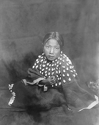 Sioux Indian Child Edward S. Curtis Portrait Photo Print