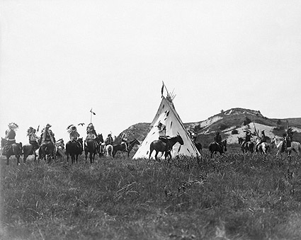 Sioux Warriors Horseback Edward S. Curtis Photo Print