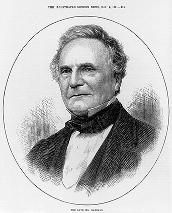 Sketch Portrait of Charles Babbage Photo Print