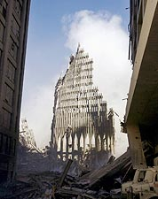 South Tower Ruins WTC New York 9/11 Photo Print for Sale