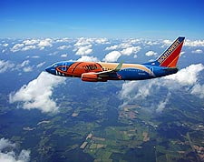 Southwest Airlines Boeing 737 'Slam Dunk One' NBA Plane  Photo Print for Sale