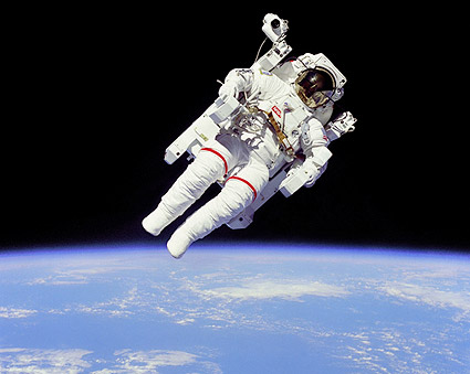 Space Shuttle Bruce McCandless Space Walk Photo Print