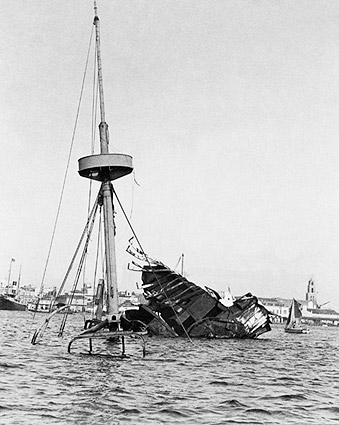 Spanish American War USS Maine Wreckage in Cuba Photo Print
