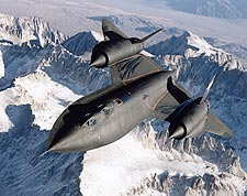 SR-71 Blackbird in Flight Photo Print for Sale