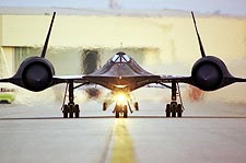SR-71 Blackbird Taxi on Ramp w/ Engines Photo Print for Sale