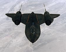 SR-71 Blackbird in Flight View from Above Photo Print for Sale