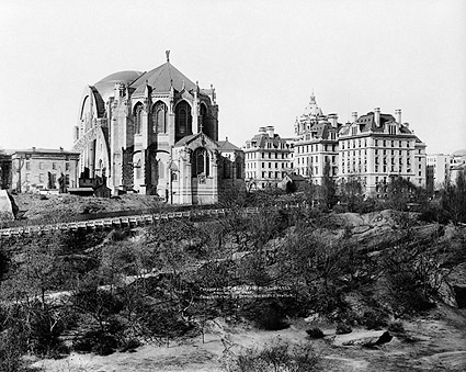 St. John Cathedral in Morningside Park 1910 NYC Photo Print