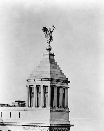 Statue atop of Telegraph Building NYC 1917 Photo Print