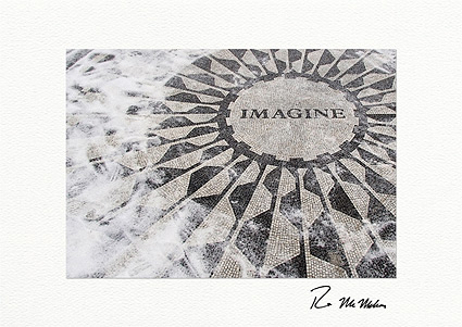 "Strawberry Fields ""Imagine,"" Central Park Individual Holiday Cards"