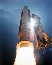 STS-43 Space Shuttle Atlantis Launch 1991 Photo Print