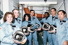 STS-51L Space Shuttle Challenger Crew Photo Print for Sale