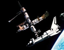 STS-71 Shuttle Atlantis & Mir Space Station Photo Print for Sale