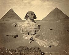 The Great Sphinx Unearthed Egypt 1867 Photo Print for Sale