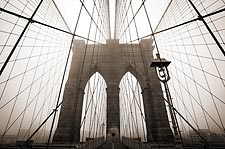 The Majestically Gothic Brooklyn Bridge Photo Print for Sale