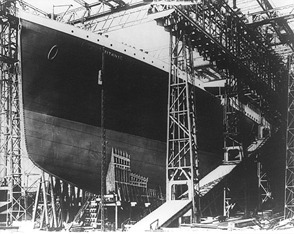 The Titanic Ship in Dry Dock 1912 Photo Print