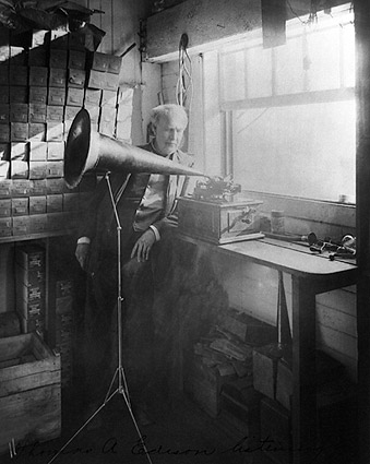 Thomas A. Edison Phonograph Portrait 1906 Photo Print