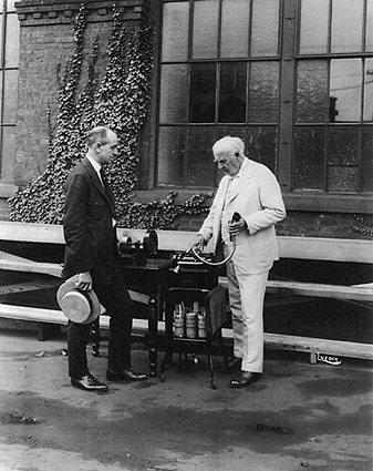 Thomas Edison Dictating Machine Outside Photo Print