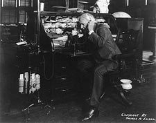 Thomas Edison Dictating Machine Photo Print for Sale