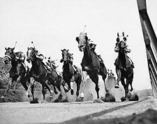 Thoroughbred Horse Race at Belmont Track Photo Print for Sale