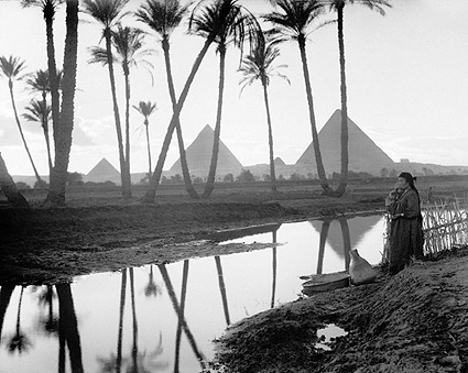 Three Pyramids Cairo Egypt 1936 Photo Print