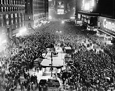Times Square New Years Eve 1949 in NYC Photo Print for Sale