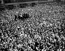 Times Square NYC Victory Day Celebration 1945 WWII Photo Print for Sale