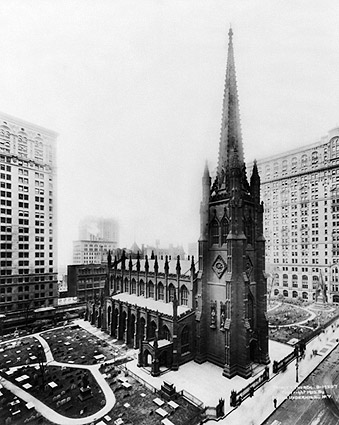 Trinity Church w/ Graveyard New York City Photo Print