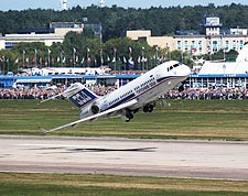 Tu-334 Airliner Taking Off Photo Print for Sale