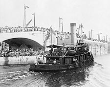 Tugboat Gatun Crossing Panama Canal 1913 Photo Print for Sale