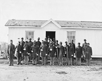 U.S. Colored Infantry Band Civil War 1865 Photo Print