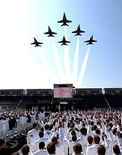 U.S. Naval Academy Graduation Blue Angels Flyover  Photo Print for Sale