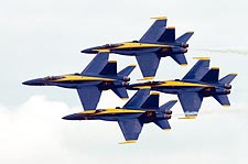U.S. Navy Blue Angels Flying in Diamond Formation Photo Print for Sale