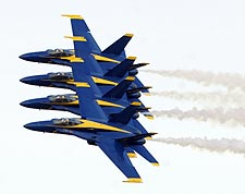 U.S. Navy Blue Angels Flying in Formation Photo Print for Sale