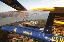 U.S. Navy Blue Angels Over San Francisco Photo Print for Sale