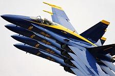U.S. Navy F-18 Blue Angels Echelon Parade Photo Print for Sale